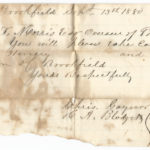 a receipt from the 1880s in wisconsin