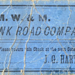 a ticket for the plank road in milwaukee wisconsin from the 1880s