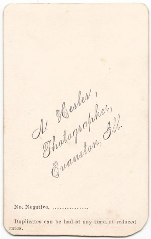 the back of a carte de visite of abbey elvira brown hanks from 1870