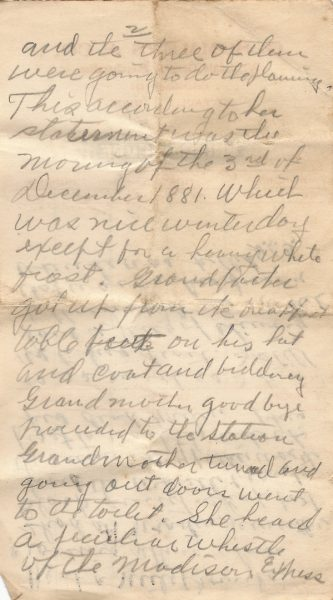 page 2 of a note about the death of Hendrick Gregg