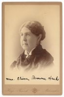 a cabinet card of abbey elvira brown hanks