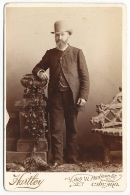 a cabinet card of charles everts brown