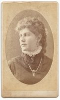 cdv of unknown woman taken at charles loops studio in milwaukee wisconsin