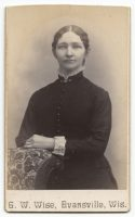 a cdv of an unknown woman taken by gw wise of evansville wisconsin