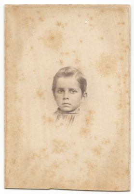 cdv of an unknown young boy taken at h s brown studio in milwaukee wisconsin