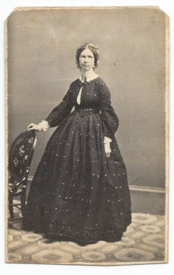 cdv of unknown woman taken at lydston photography studios in milwaukee wisconsin