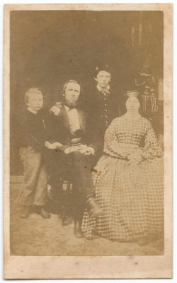 cdv of unknown family taken at a marquis jr studio in milwaukee wisconsin
